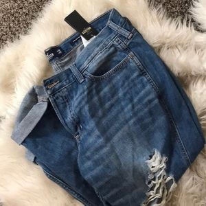 New boyfriend jeans hollister blue